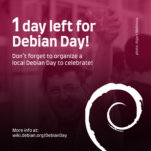 #Debian Day in 1 day