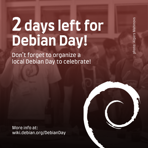 #DebianDay in 2 days